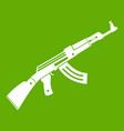 submachine gun icon green vector image vector image