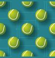 tennis ball seamless pettern realistic vector image