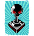 vintage joystick with skull retro game controller vector image