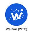 walton wtc crypto coin ico vector image vector image