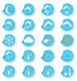 weahter forecast icons set vector image vector image