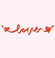 when love comes vector image vector image