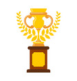 winner cup gold prize of championship tournament vector image vector image