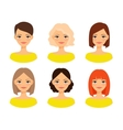 Womens faces with different hairstyles vector image vector image