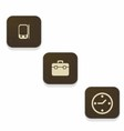 wood business icons vector image