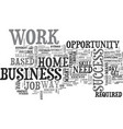 work at a home based business opportunity skill vector image vector image