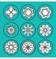 floral icons vector image