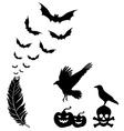Halloween design elements set vector image