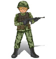 A brave soldier vector image vector image