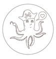 a cartoon octopus vector image