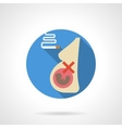 A pregnant smoker flat round icon vector image