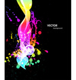 Abstract Background with Paint Splash vector image