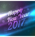 amazinf happy new year 2017 background with light vector image vector image