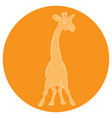 an amusing animation giraffe for the childrens vector image vector image