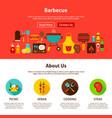barbecue web design vector image vector image