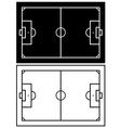 Black and white soccer field vector image vector image