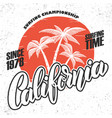 California surf rider poster template