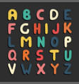 colorful cartoon funny font children english vector image