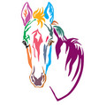 colorful decorative horse 4 vector image vector image
