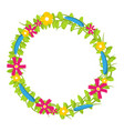 colorful floral circle with red and yellow vector image