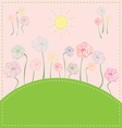 colorful flowers on the meadow under the sun vector image vector image