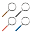 Colorful Magnifying Glass Zoom Tool vector image
