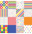 colorful seamless patterns for baby style vector image vector image