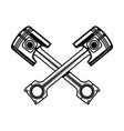 crossed motorcycle pistons design element vector image