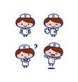 cute female nurse medical staff cartoon character vector image vector image