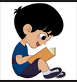 cute kid read a book for exame vector image vector image