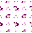 Cute seamless pattern with little cartoon horse vector image vector image