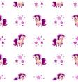 Cute seamless pattern with little cartoon horse