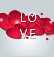 designed for day valentine vector image