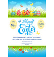 easter eggs poster template vector image vector image