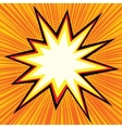 Explosion comics bubble vector image