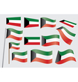 flag of Kuwait vector image vector image