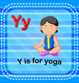 flashcard letter y is for yoga vector image vector image
