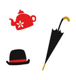 flat british english gentleman symbols set vector image vector image