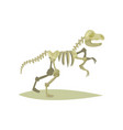flat icon of dinosaur skeleton vector image vector image