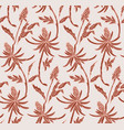 floral pattern nude pink flower seamless light vector image