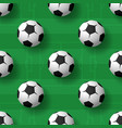 football balls seamless patternbackground heap of vector image