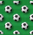 football balls seamless patternbackground heap vector image
