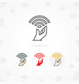 free wifi icon vector image