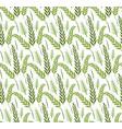 grass plants seamless pattern sukkot green vector image