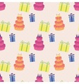 Happy Birthday pattern vector image