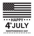 happy july independence day vector image vector image