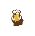 head beer logo icon design vector image vector image