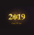 holiday new year card 2019 vector image