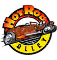 hot-rod-color-wtexture-jpg vector image vector image