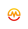 letter M symbol round logo vector image vector image